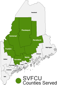 Credit union counties served in Maine